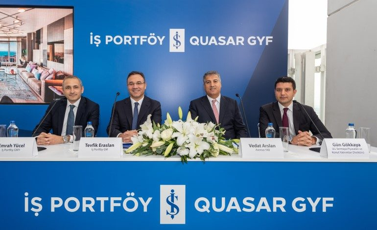 İş Portföy Quasar GYF'nin Quasar İstanbul'daki Gayrimenkulleri Satışa Sunuldu