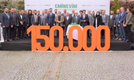 Eminevim Faizsiz Sistemde 150.000'nci Teslimatını gerçekleştridi