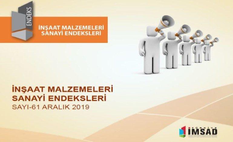 'Türkiye İmsad İnşaat Malzemeleri Sanayi Bileşik Endeksi' Aralık 2019 Sonuçları Açıklandı