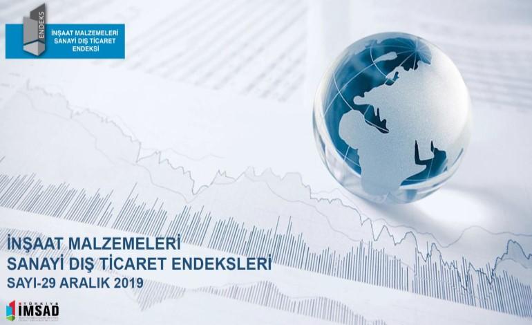 Türkiye İmsad İnşaat Malzemeleri Sanayi Dış Ticaret Endeksi Aralık 2019 Sonuçları Açıklandı