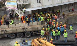 AKM inşaatında bir işçi karantinaya alındı, işçiler iş bırakma eylemine başladı