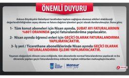 Ankara'da konut ve iş yerlerine fatura müjdesi