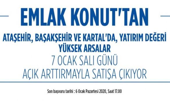 Emlak Konut İstanbul'un 3 İlçesindeki Arsalarını Satışa Çıkardı