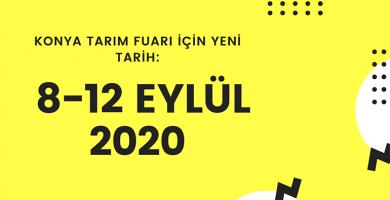 Konya Tarım Fuarı 2020 Eylül'de Ziyaretçilerle Buluşacak